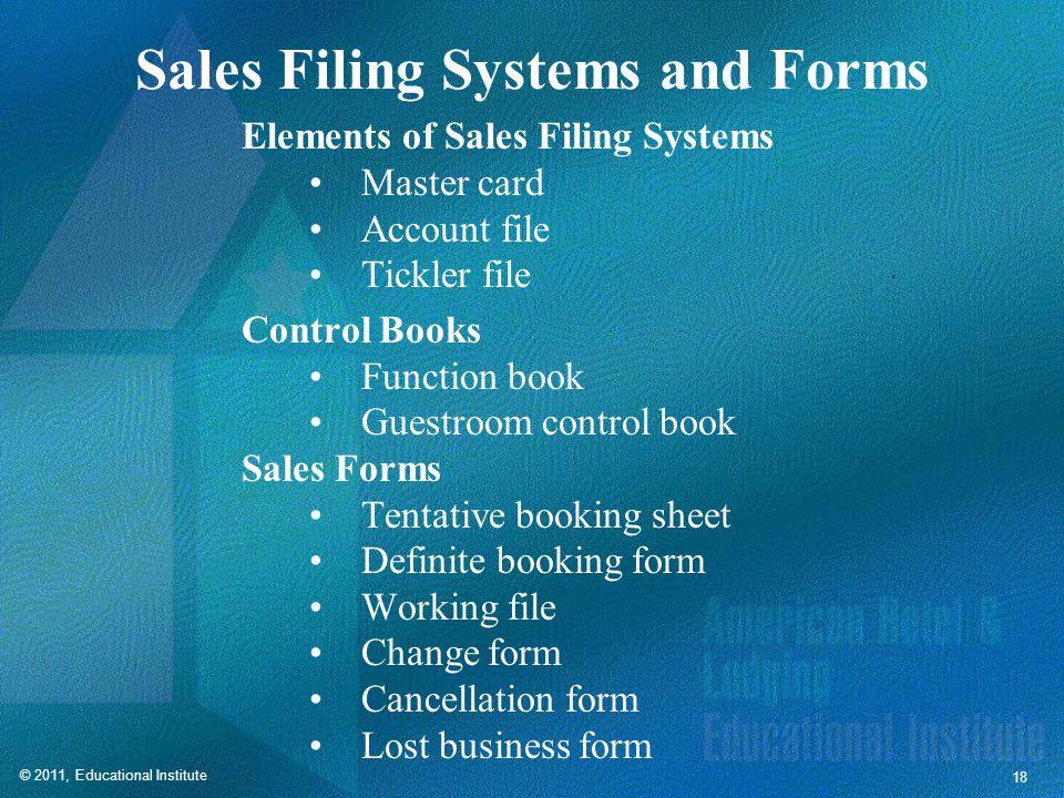 Master Card Summarizes sales efforts Serves as prospect database