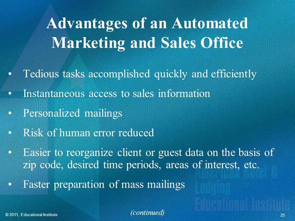 Advantages of an Automated Marketing and Sales Office
