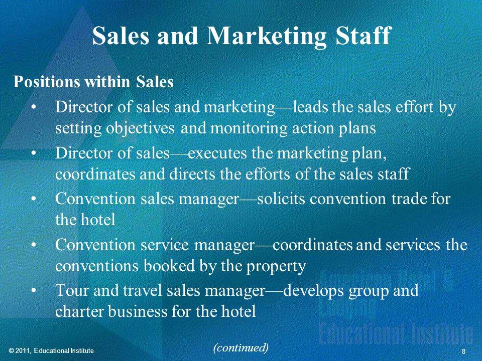 Sales and Marketing Staff