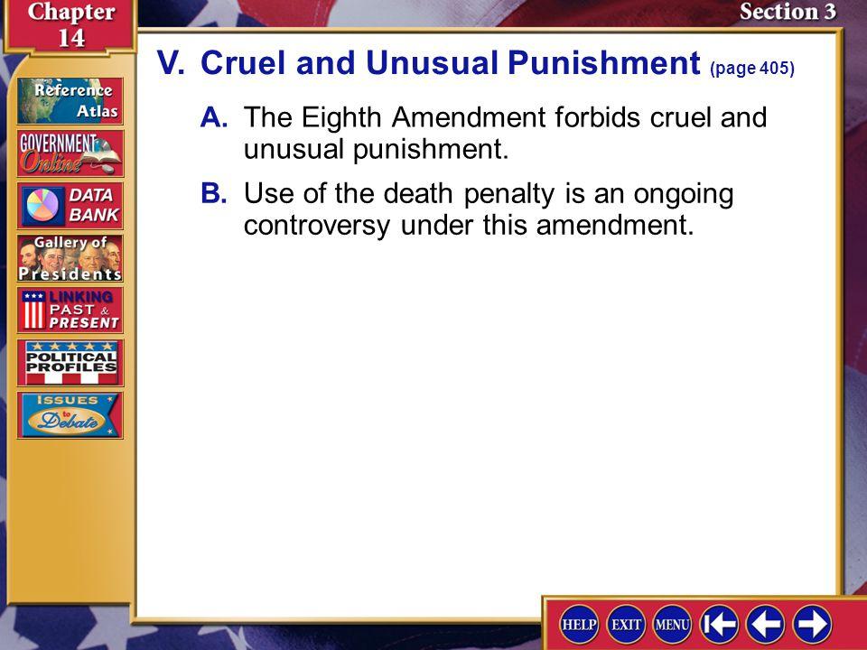 V. Cruel and Unusual Punishment (page 405)