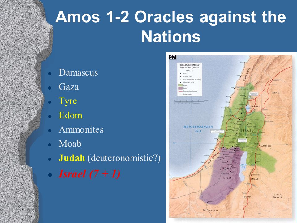 Amos 1-2 Oracles against the Nations