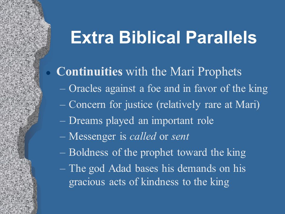 Extra Biblical Parallels