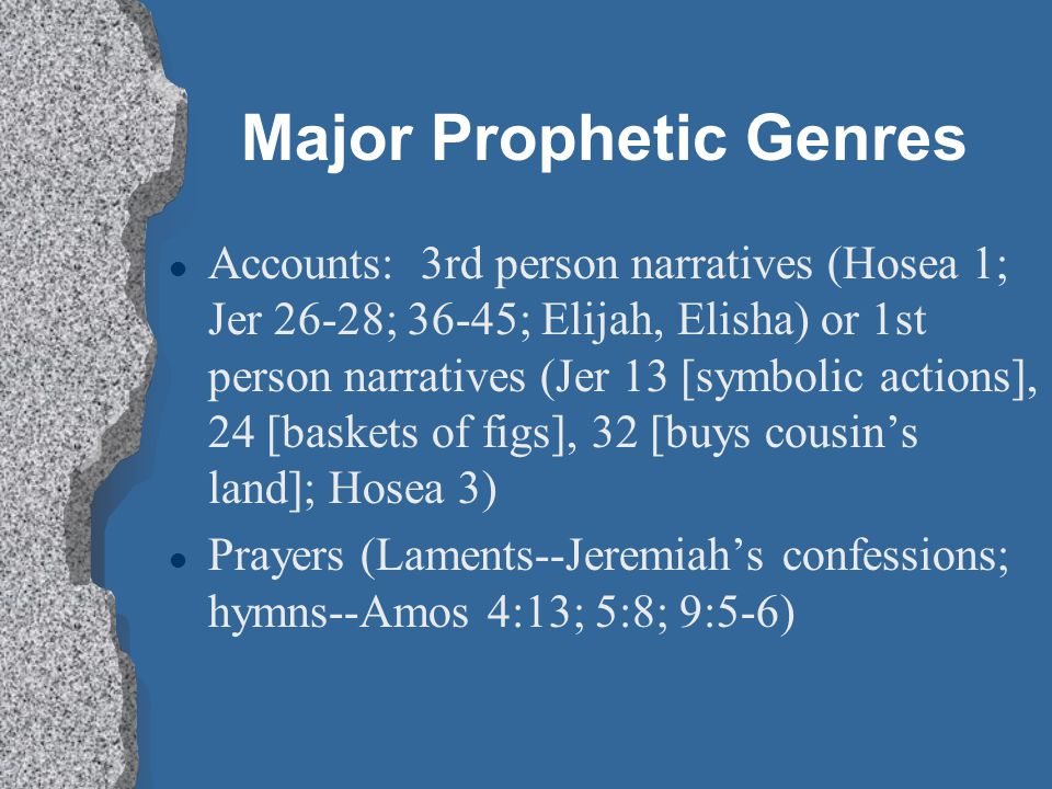Major Prophetic Genres