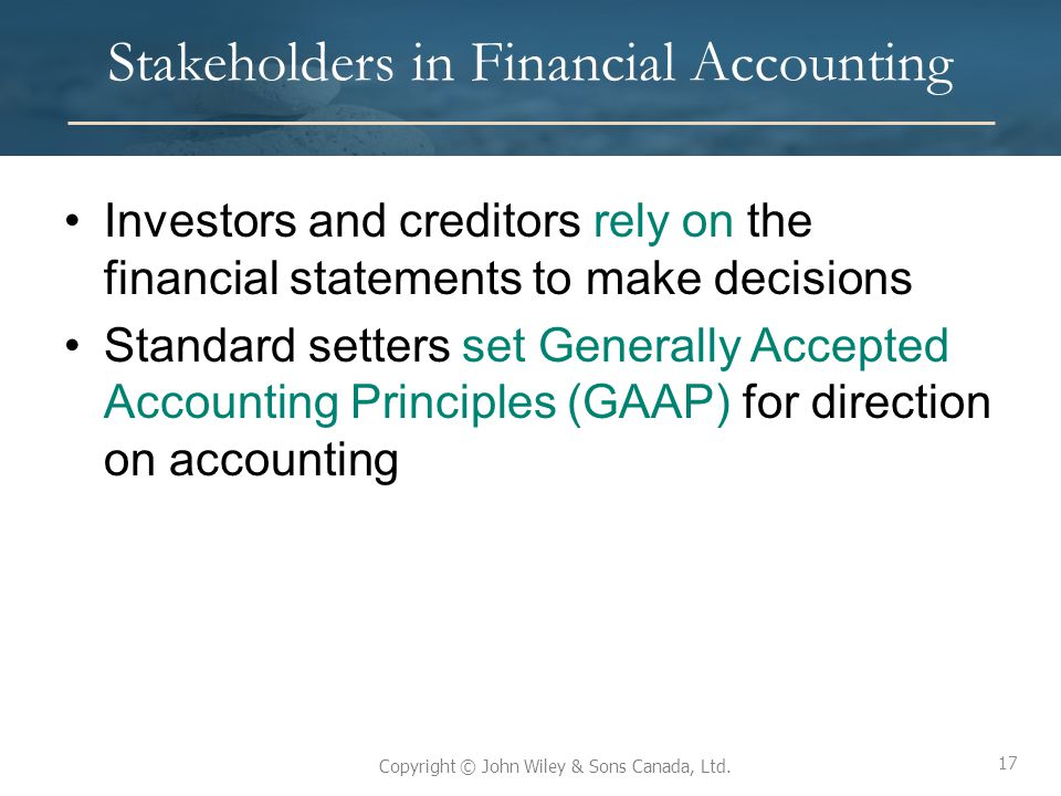 Stakeholders in Financial Accounting