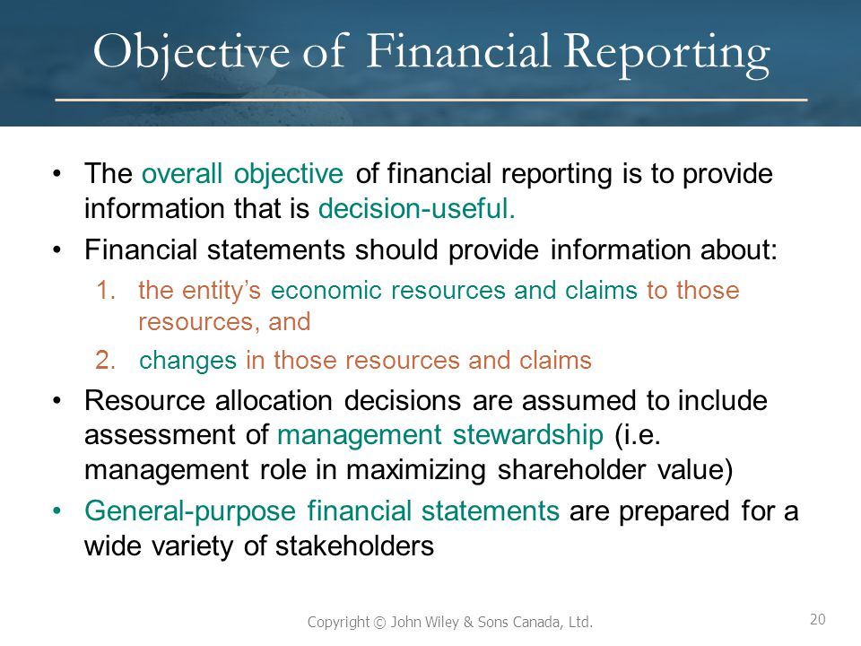 Objective of Financial Reporting