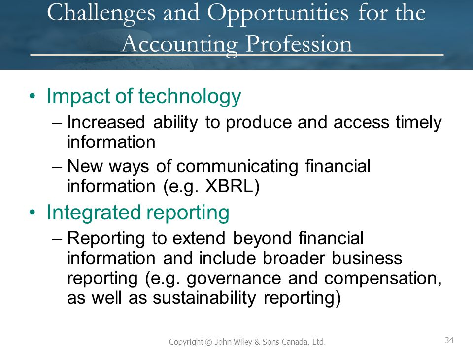 Challenges and Opportunities for the Accounting Profession