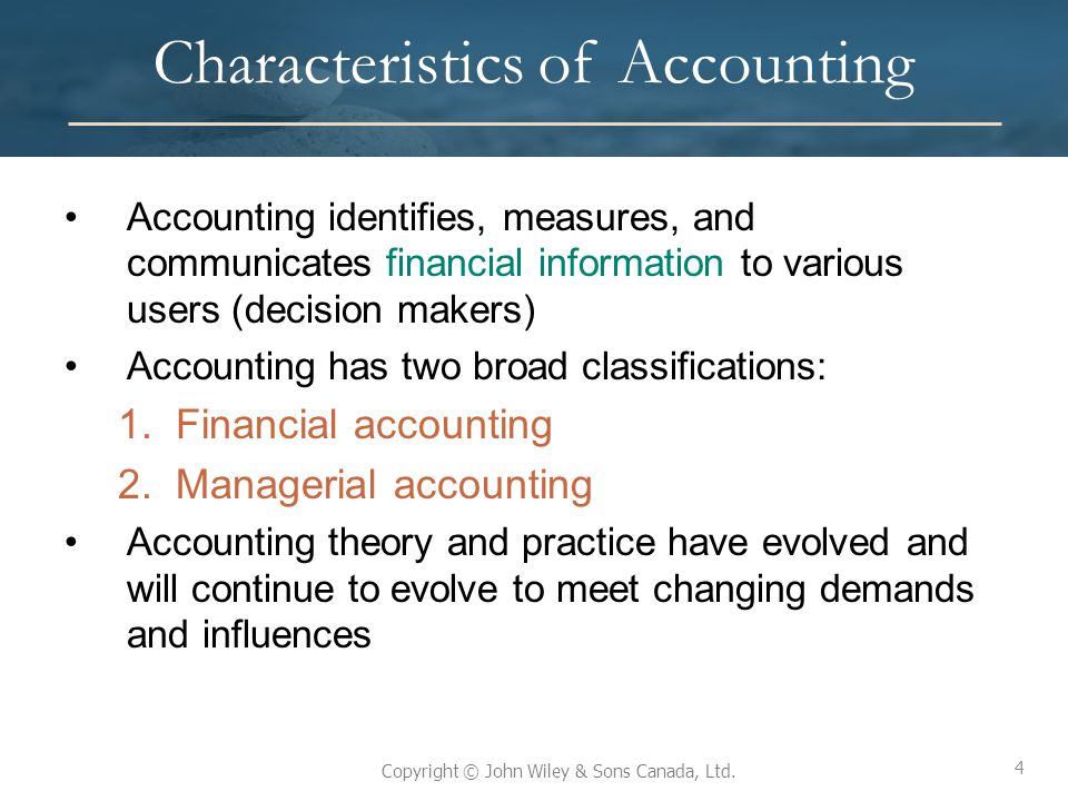 Characteristics of Accounting