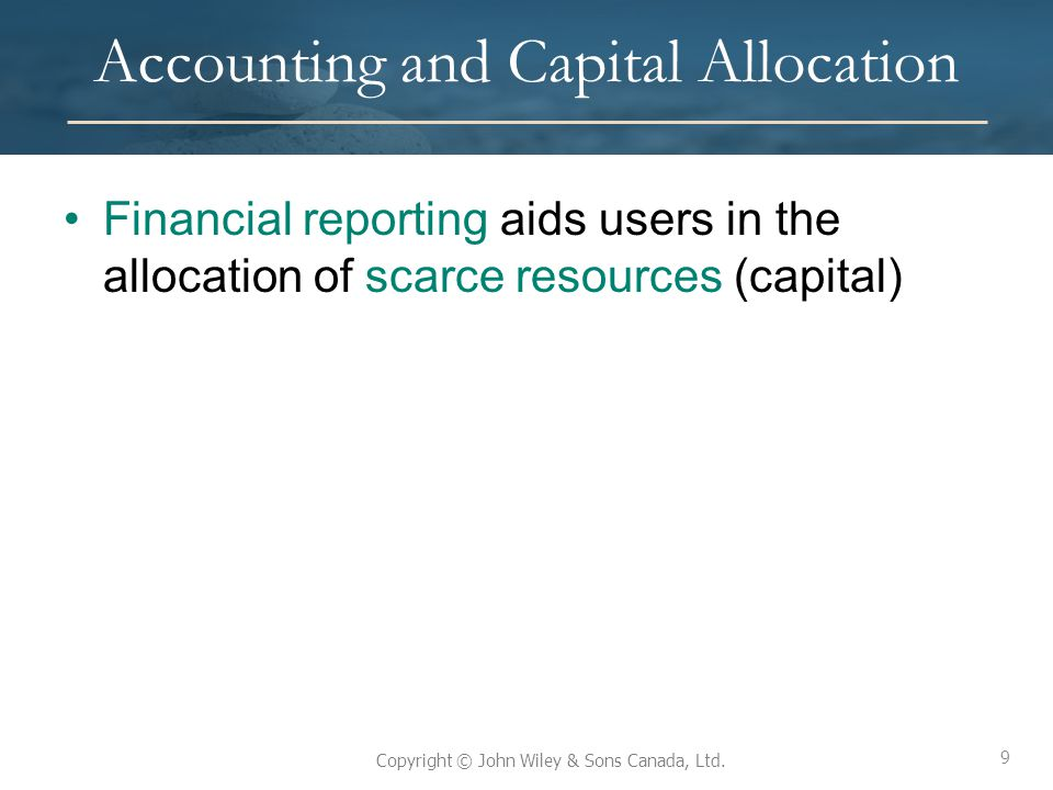 Accounting and Capital Allocation