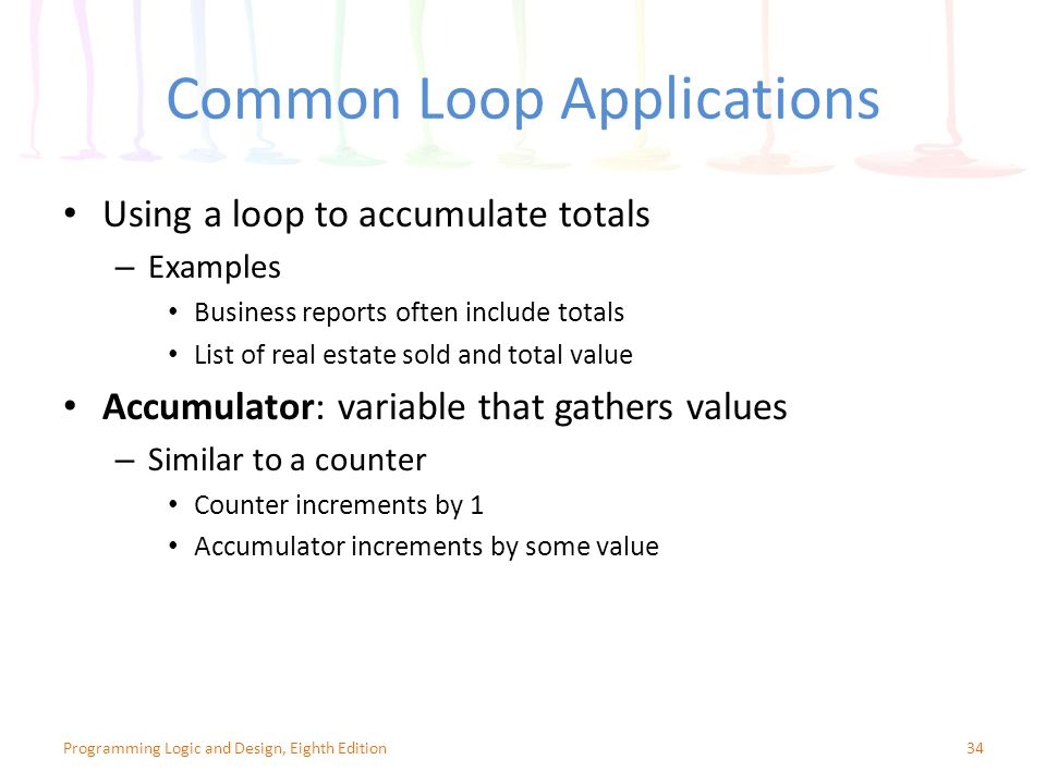 Common Loop Applications