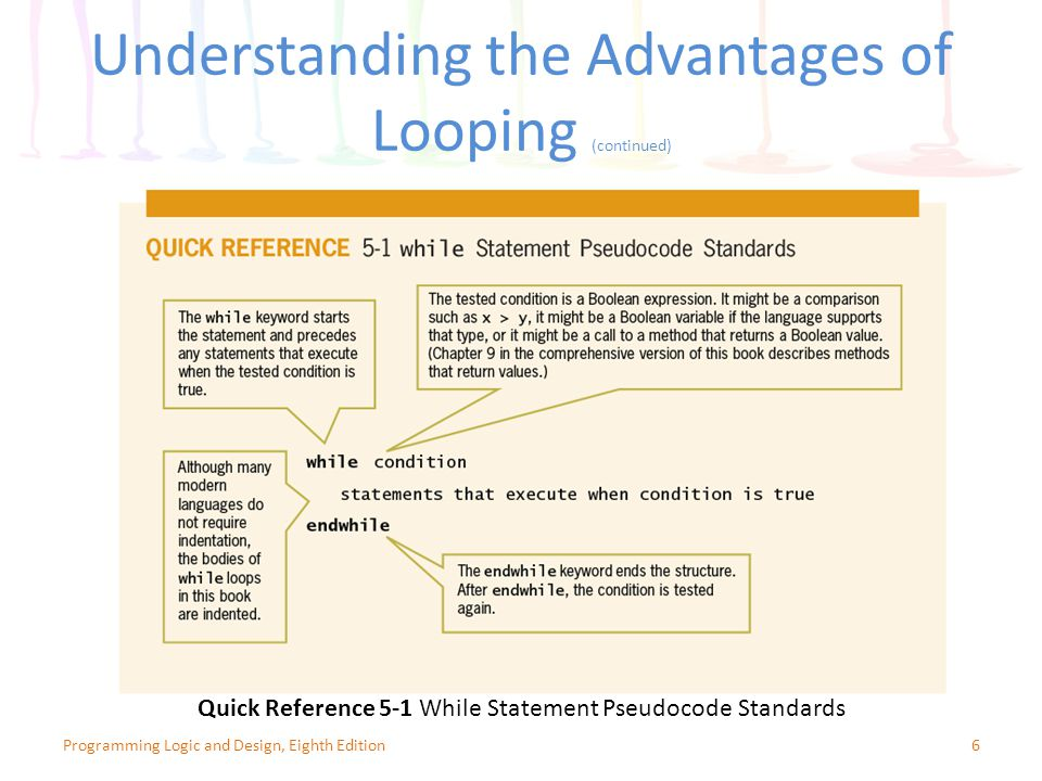 Understanding the Advantages of Looping (continued)