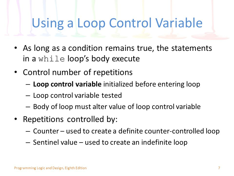 Using a Loop Control Variable