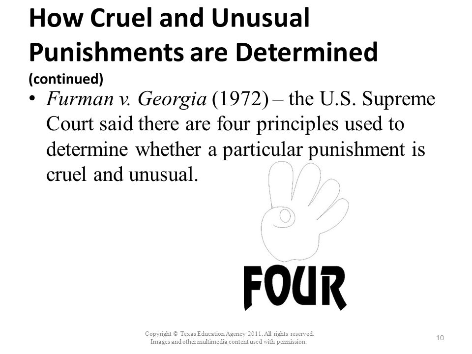 How Cruel and Unusual Punishments are Determined (continued)