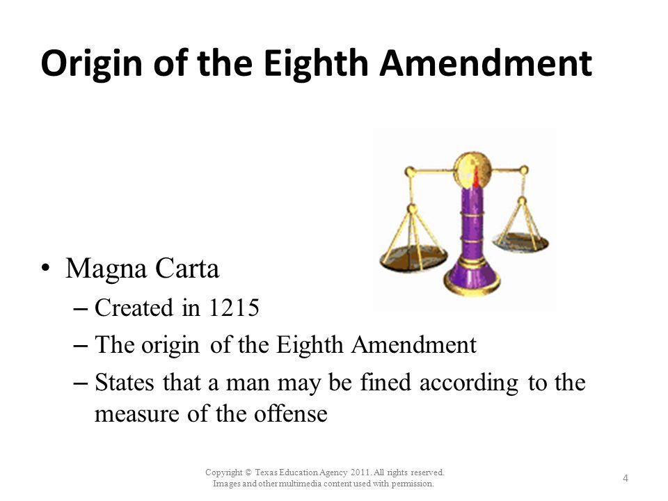 Origin of the Eighth Amendment