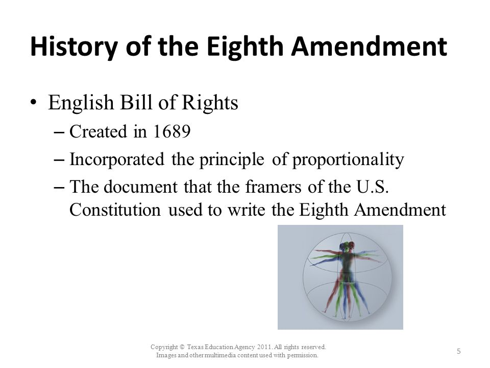 History of the Eighth Amendment