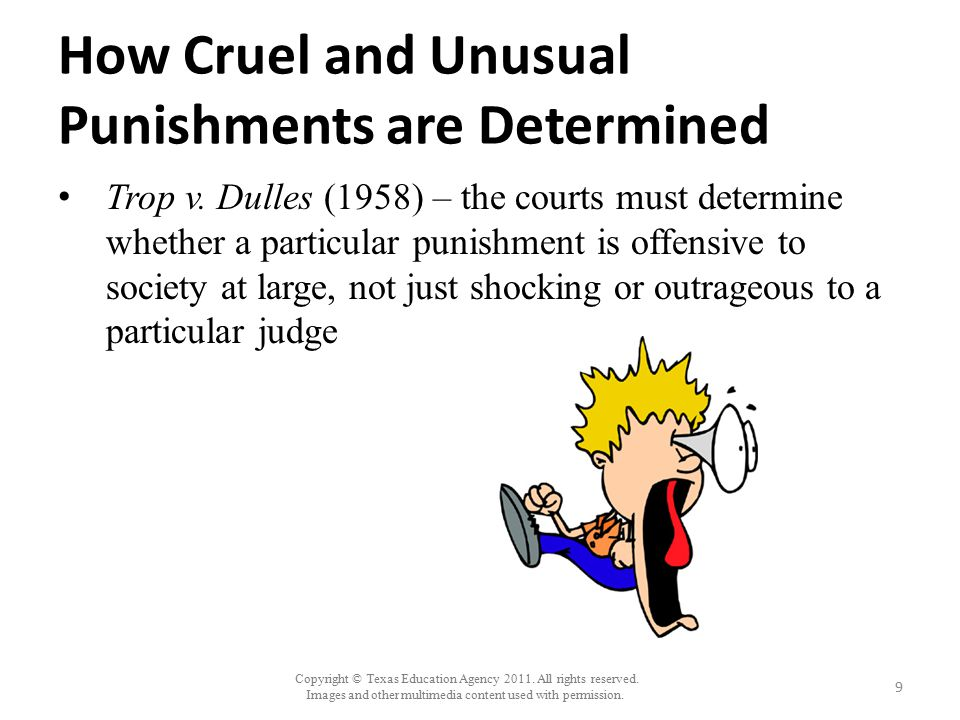 How Cruel and Unusual Punishments are Determined