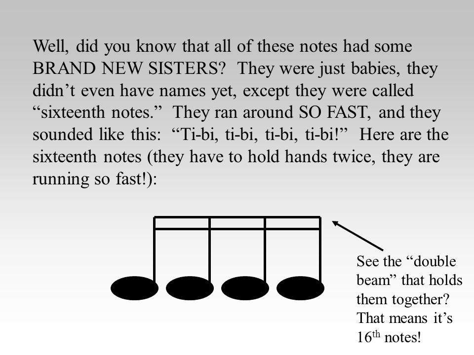 Well, did you know that all of these notes had some BRAND NEW SISTERS