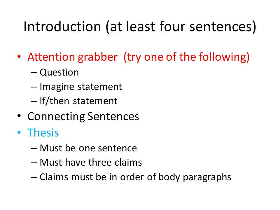 Attention grabbing sentences for essays