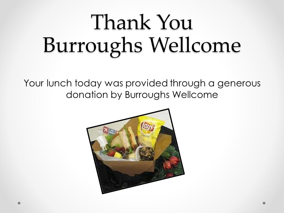 Thank You Burroughs Wellcome