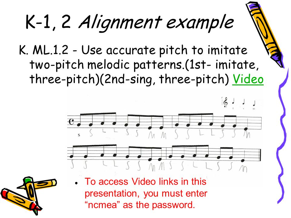 K-1, 2 Alignment example