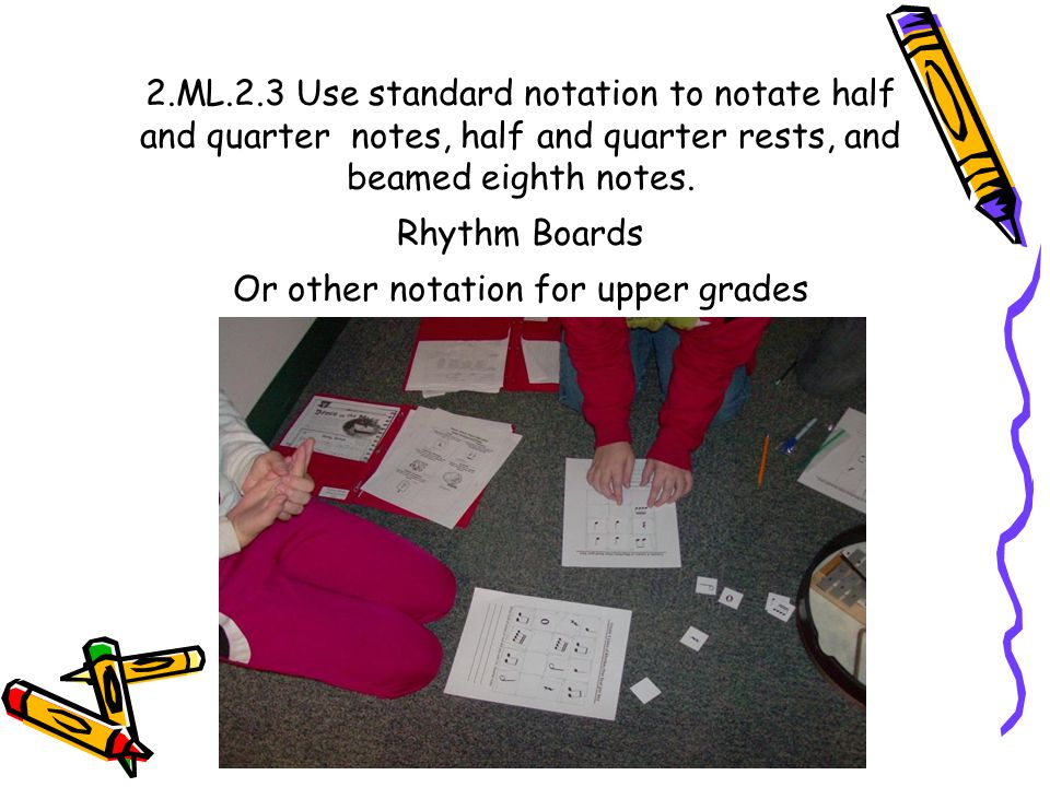 Or other notation for upper grades