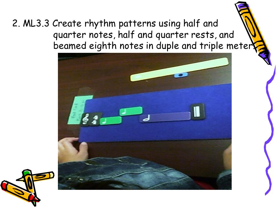 2. ML3.3 Create rhythm patterns using half and