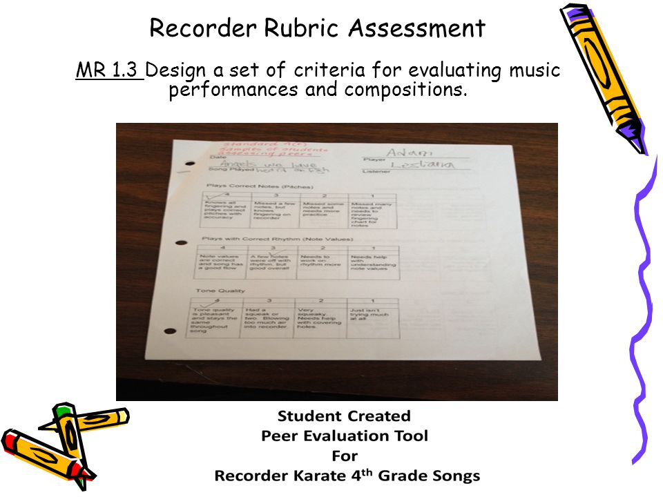 Recorder Rubric Assessment