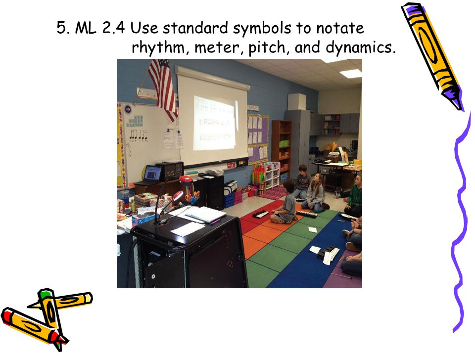 5. ML 2.4 Use standard symbols to notate
