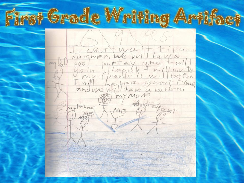 First Grade Writing Artifact