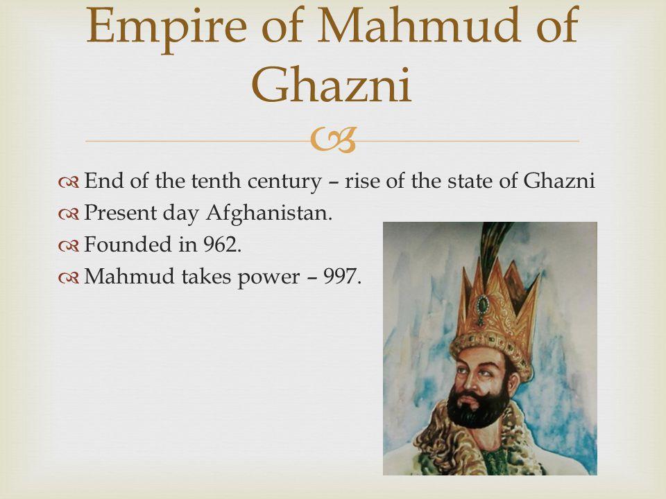 Empire of Mahmud of Ghazni
