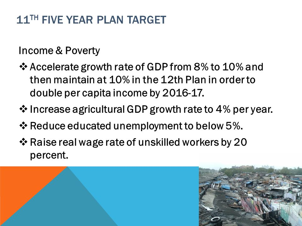11th Five Year Plan Target