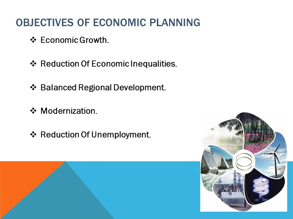 OBJECTIVES OF ECONOMIC PLANNING