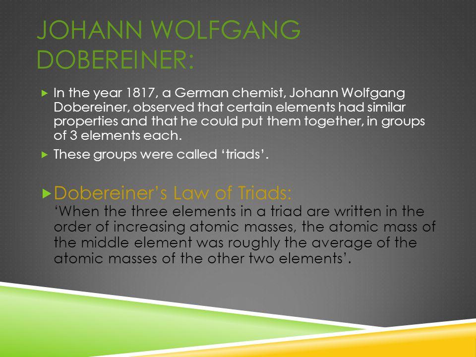 Johann Wolfgang Dobereiner:
