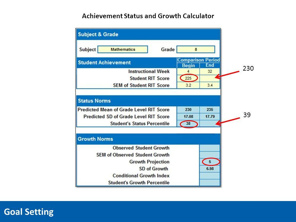 Achievement Status and Growth Calculator