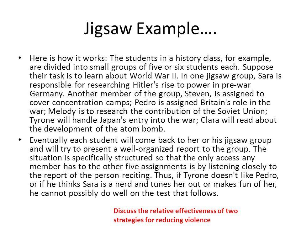 Jigsaw Example….