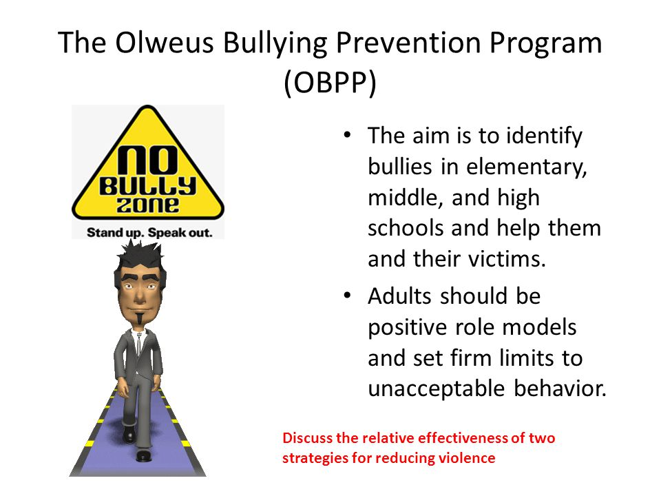 The Olweus Bullying Prevention Program (OBPP)