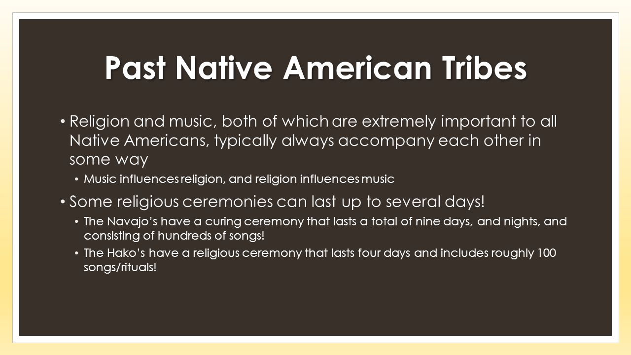 Past Native American Tribes
