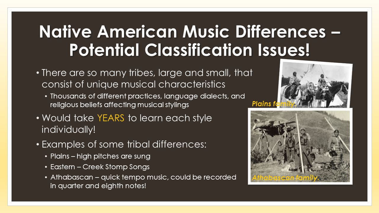 Native American Music Differences – Potential Classification Issues!