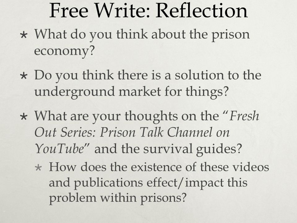 Free Write: Reflection