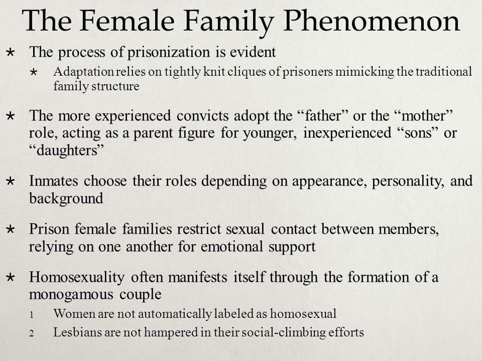 The Female Family Phenomenon