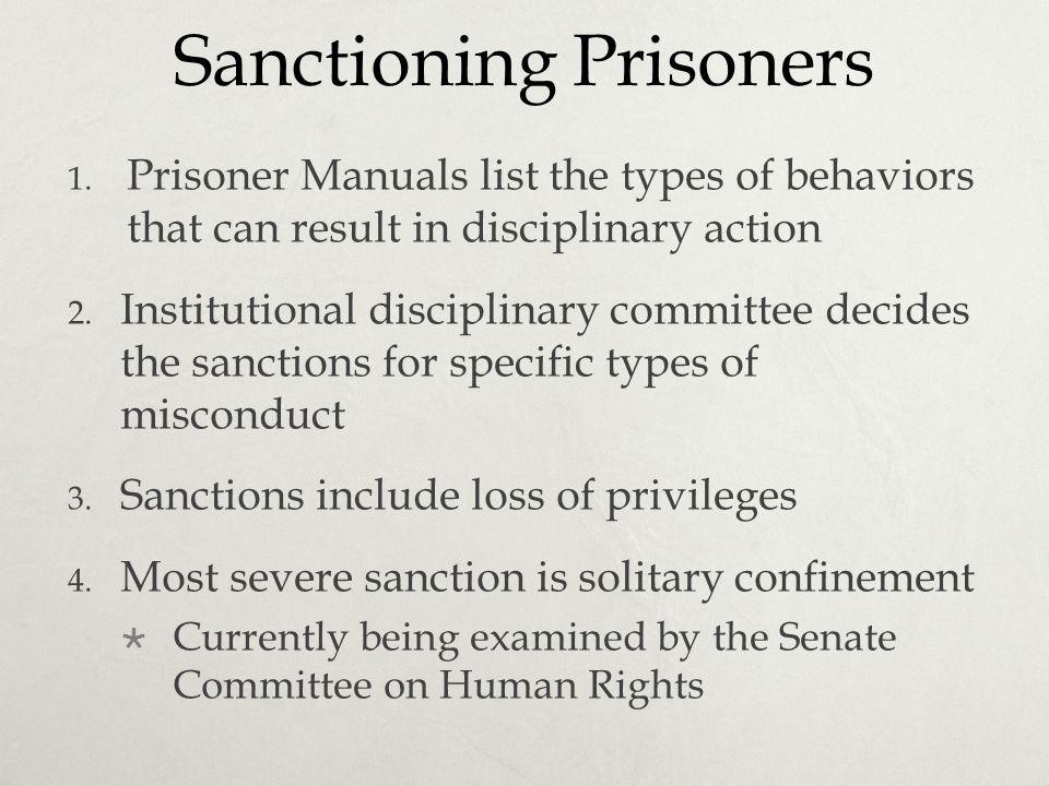 Sanctioning Prisoners