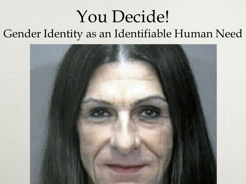 You Decide! Gender Identity as an Identifiable Human Need