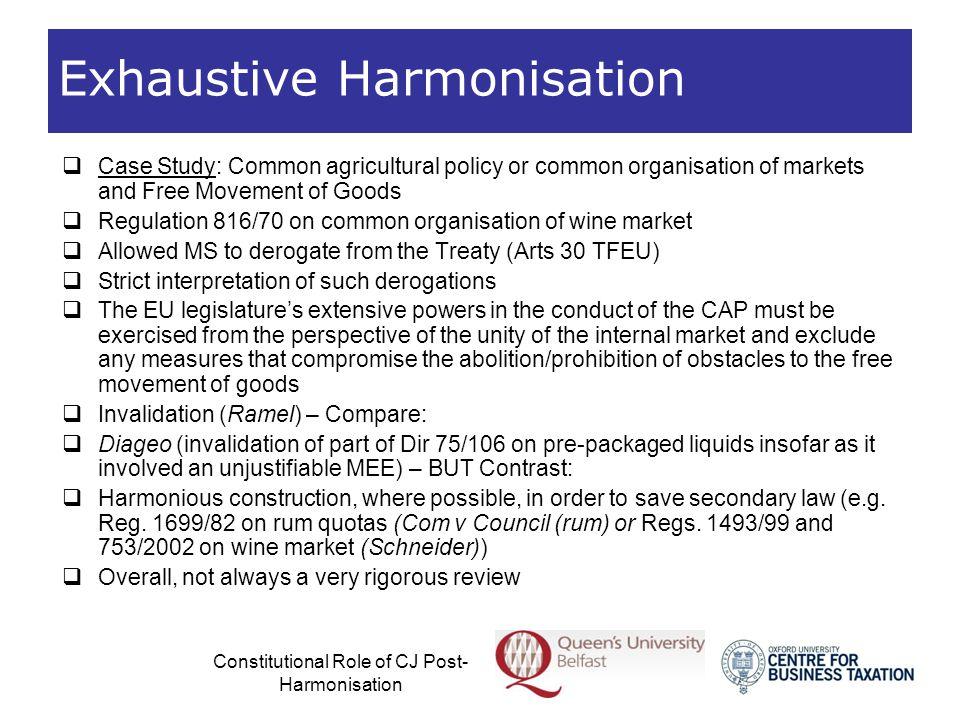 Exhaustive Harmonisation