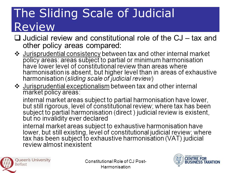 The Sliding Scale of Judicial Review