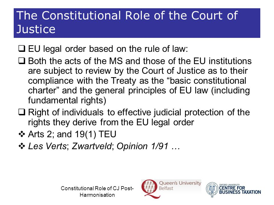 The Constitutional Role of the Court of Justice