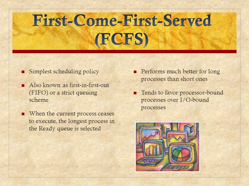First-Come-First-Served (FCFS)