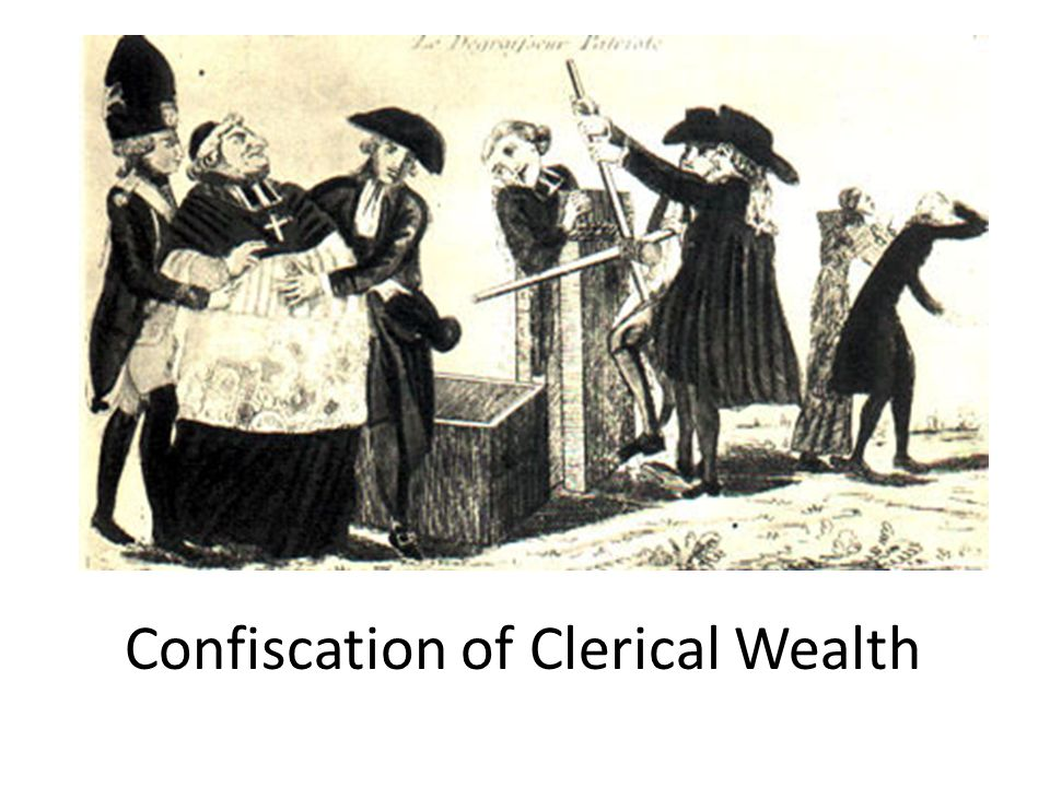 Confiscation of Clerical Wealth