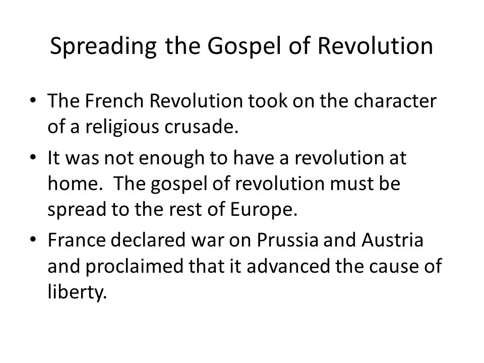 Spreading the Gospel of Revolution
