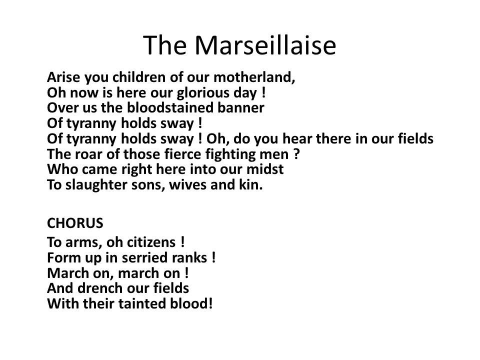 The Marseillaise CHORUS