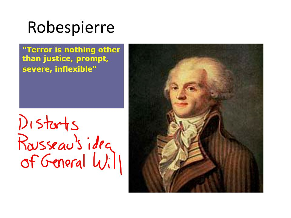 Robespierre Terror is nothing other than justice, prompt, severe, inflexible