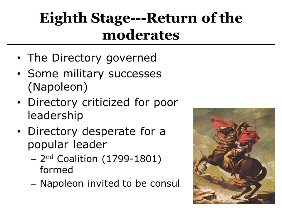 Eighth Stage---Return of the moderates